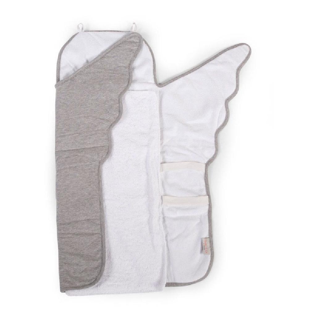 Childhome - Mata do przewijania Angel Jersey Grey | Esy Floresy