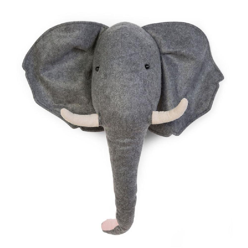Childhome - Filcowa głowa słonia na ścianę   Esy Floresy