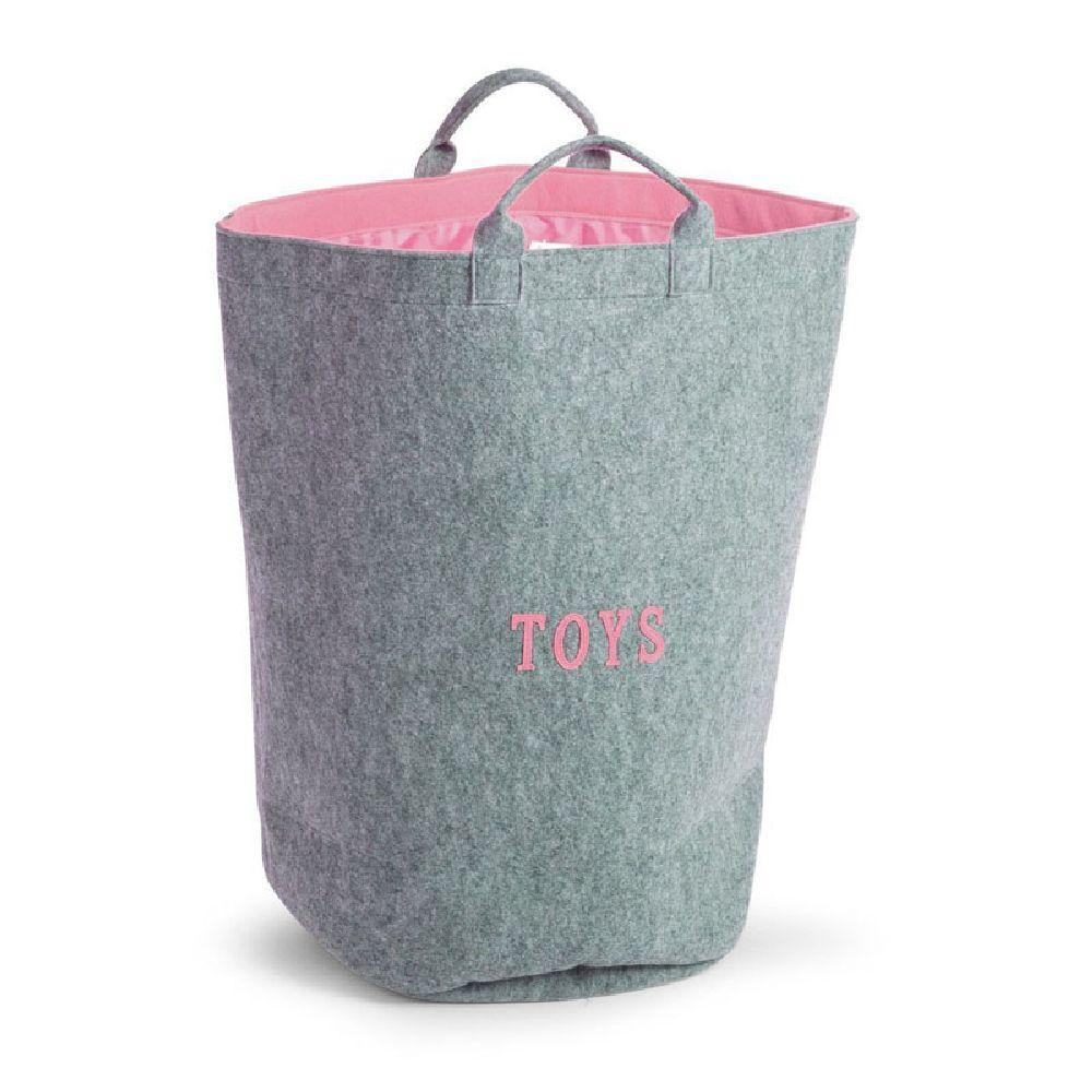 Childhome - Filcowa torba na zabawki różowy z uchwytami   Esy Floresy