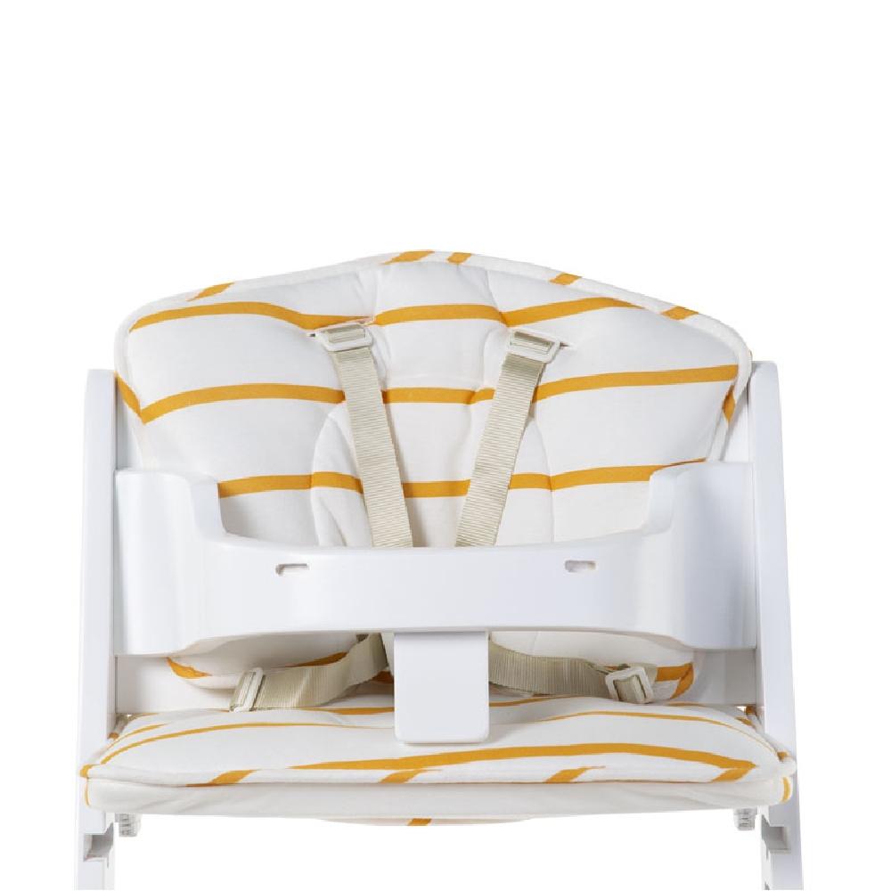 Childhome - Ochraniacz do krzesełka Lambda Jersey Ochre Stripes   Esy Floresy