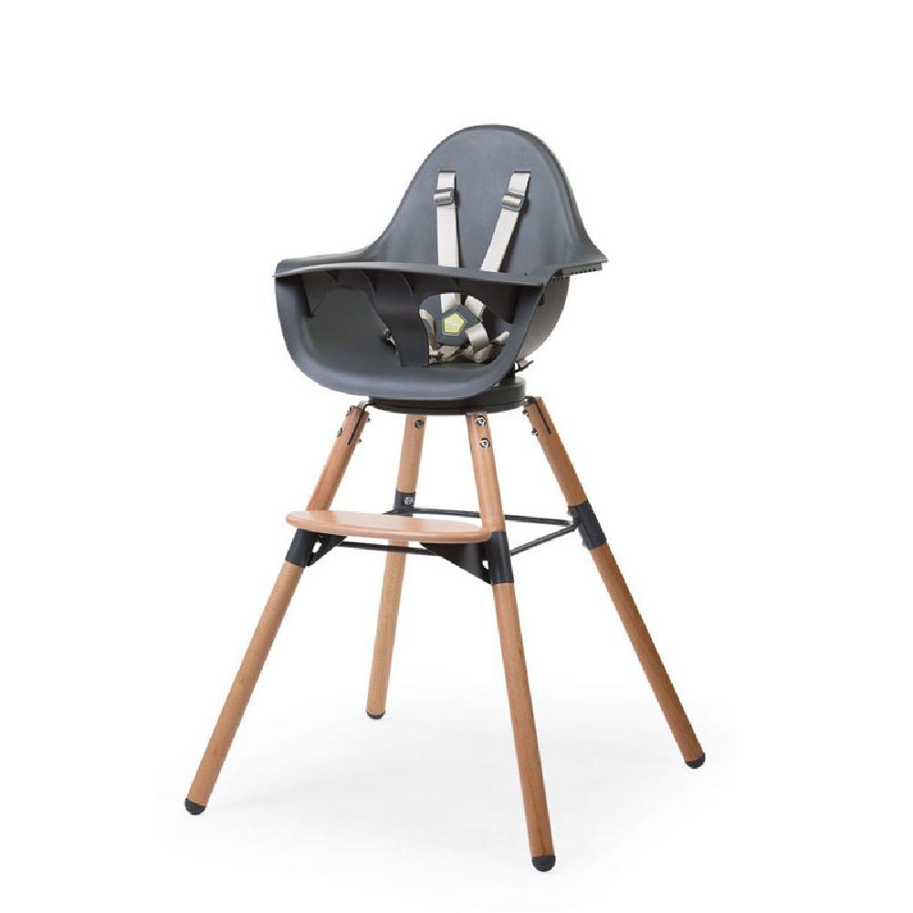 Childhome - Krzesełko do karmienia Evolu 2 ONE.80° Natural/Anthracite | Esy Floresy