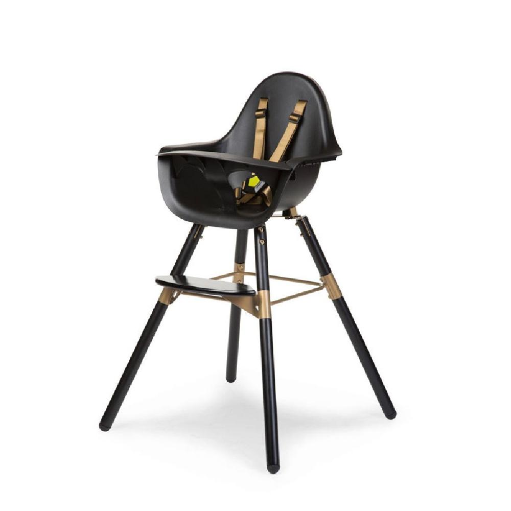 Childhome - Krzesełko do karmienia Evolu 2 Black/Gold | Esy Floresy