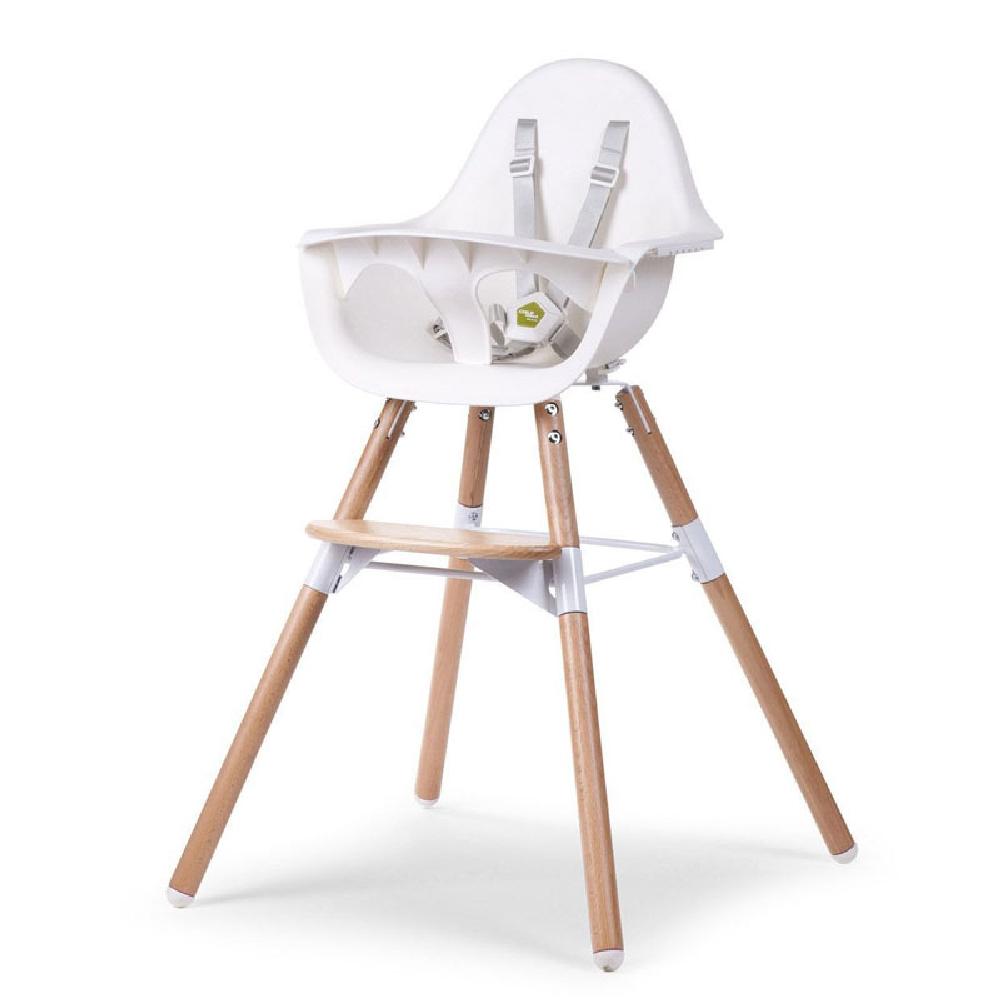 Childhome - Krzesełko do karmienia Evolu 2 Natural/White | Esy Floresy