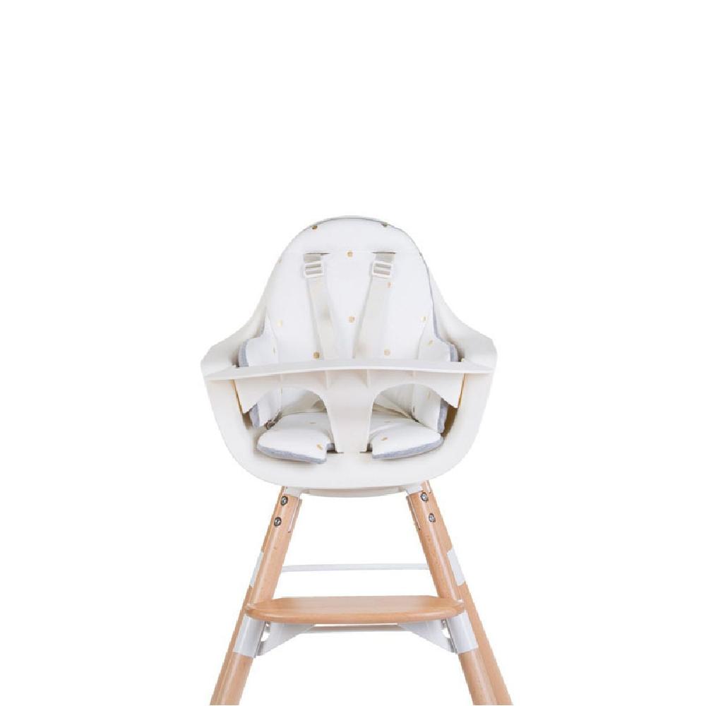 Childhome - Dwustronny ochraniacz do krzesełka Evolu 2 Jersey Grey/Gold Dots | Esy Floresy