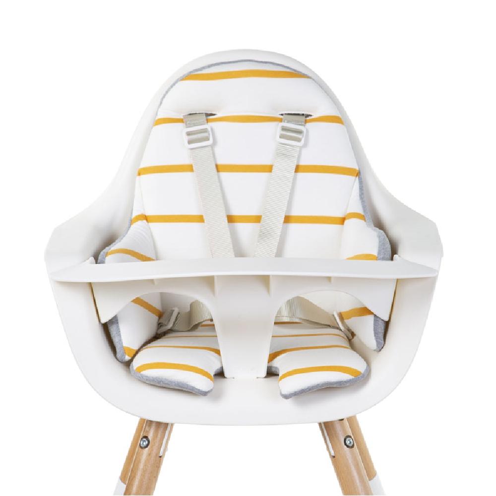 Childhome - Dwustronny ochraniacz do krzesełka Evolu 2 Jersey Ochre Stripes | Esy Floresy