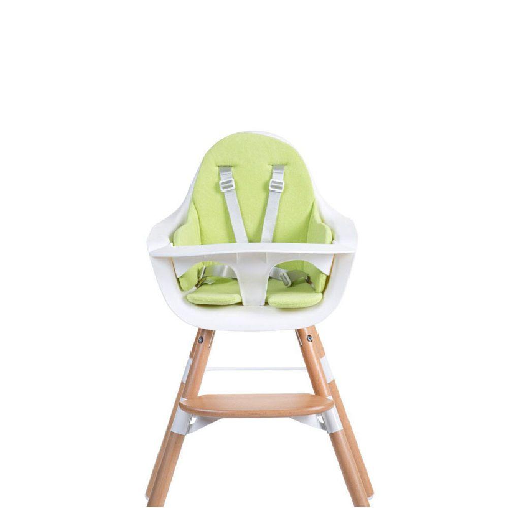 Childhome - Ochraniacz-poduszka do krzesła Evolu frote limonka | Esy Floresy