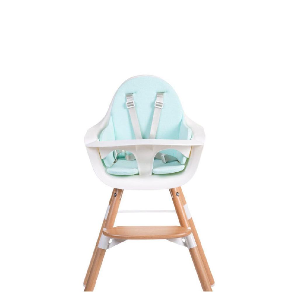 Childhome - Ochraniacz Frotte do krzesełka Evolu 2 Mint Blue   Esy Floresy