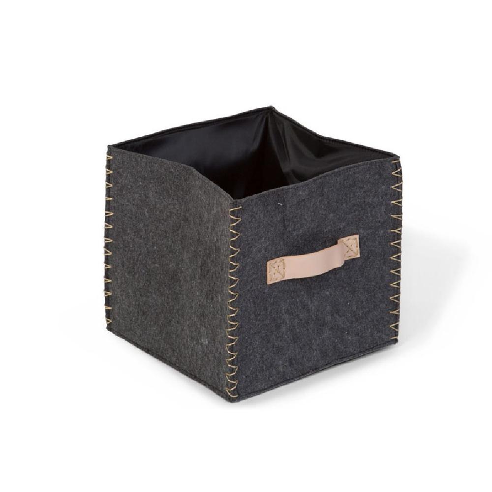 Childhome - Składane pudełko filcowe 40 x 40 x 60 cm Anthracite/Gold   Esy Floresy