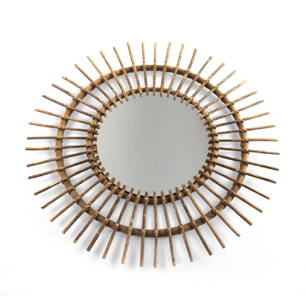 Childhome - Lustro rattanowe Aura 90 cm   Esy Floresy
