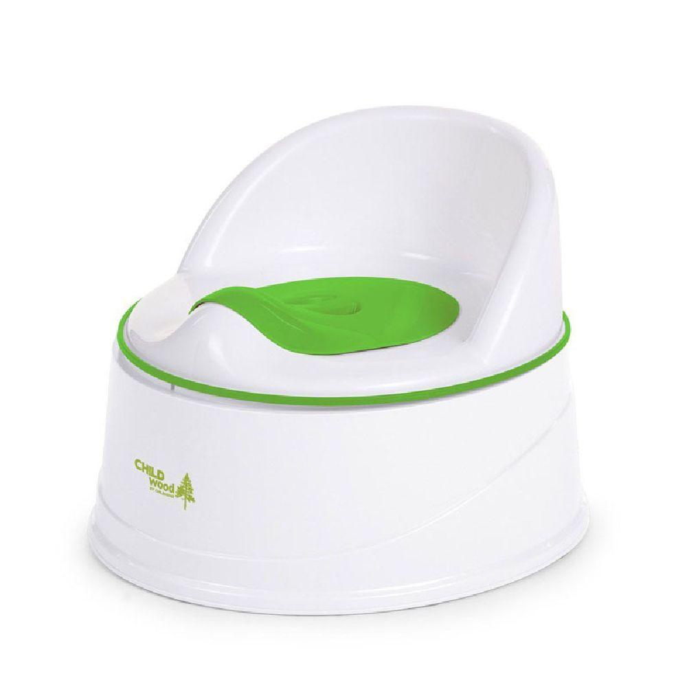 Childhome - Nocnik z wkładem i podestem 3w1 White/Green | Esy Floresy