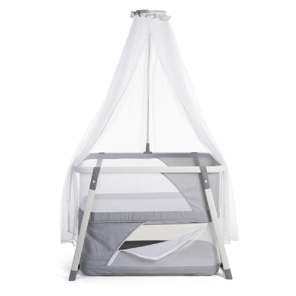 Childhome - Składana kołyska z moskitierą Nacalu Grey   Esy Floresy