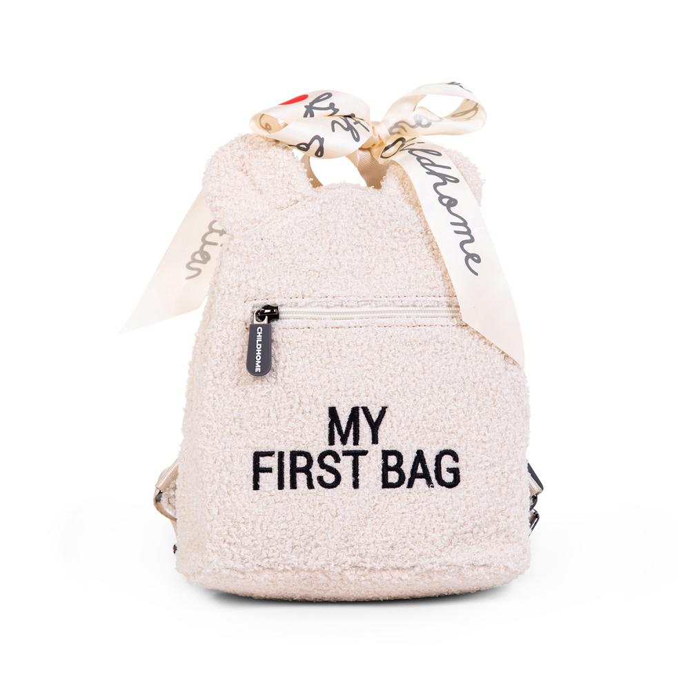 Childhome - Plecak dziecięcy My First Bag Teddy Bear White (Limited Edition) | Esy Floresy