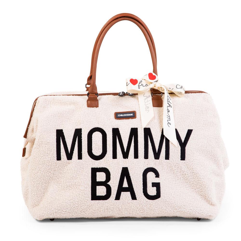 Childhome - Torba Mommy Bag Teddy Bear White (Limited Edition) | Esy Floresy