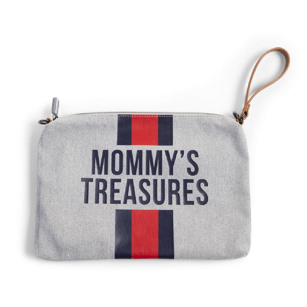 Childhome - Saszetka Mommy's Treasures Paski Granatowo-Czerwone | Esy Floresy