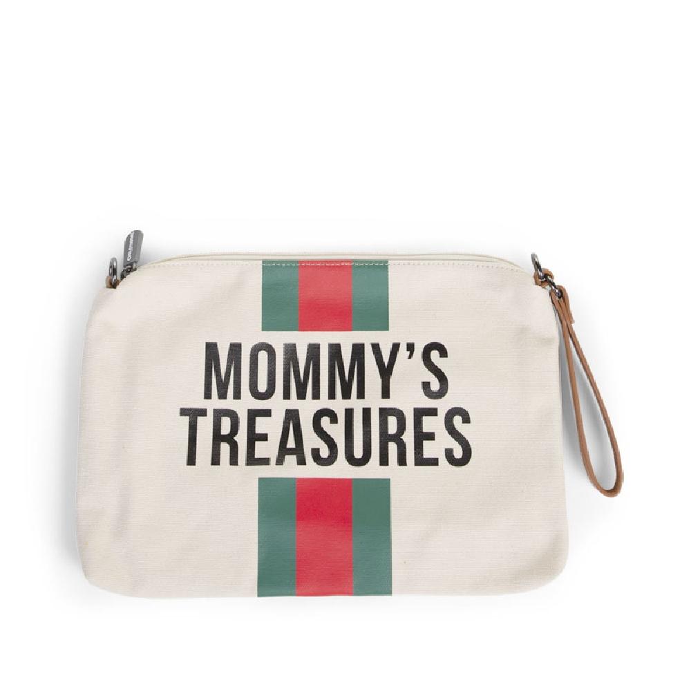Childhome - Torebka Mommy's Treasures Paski Zielono-Czerwone | Esy Floresy