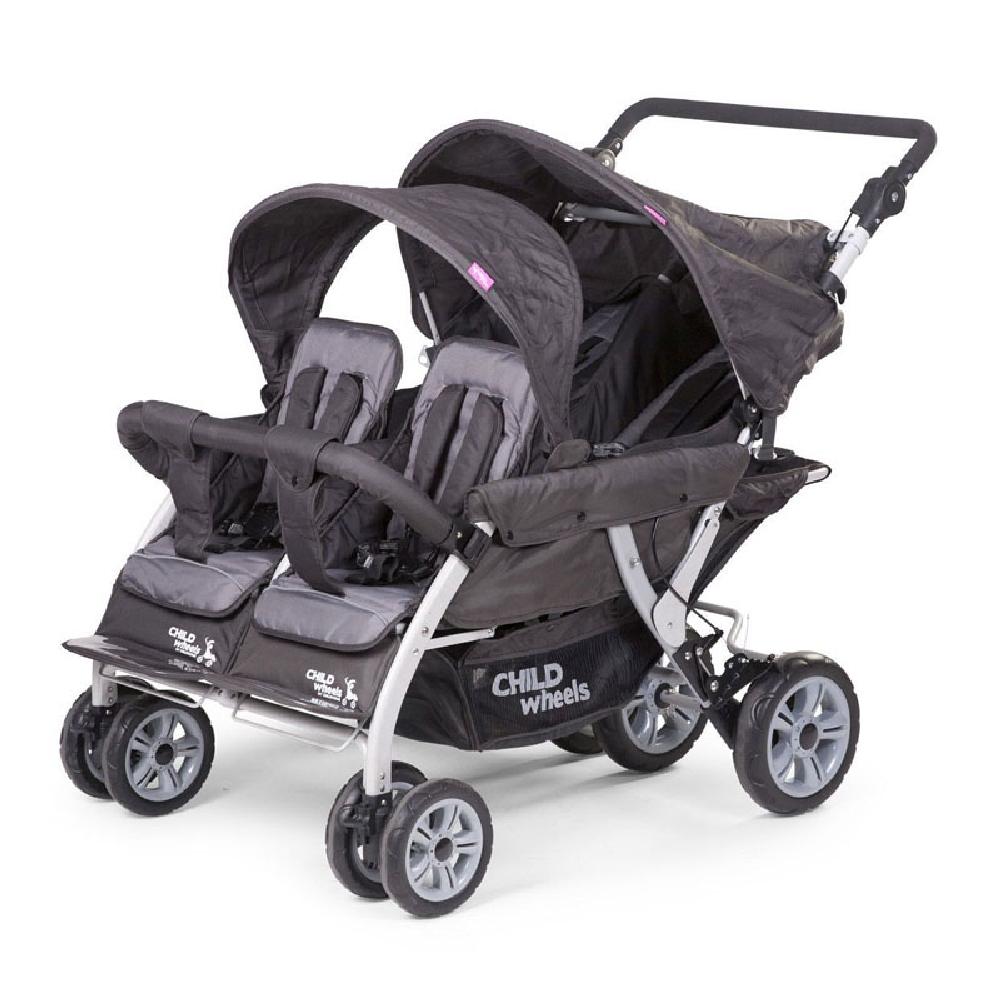Childhome - Wózek czteroosobowy Quadruple 2 Autobrake | Esy Floresy