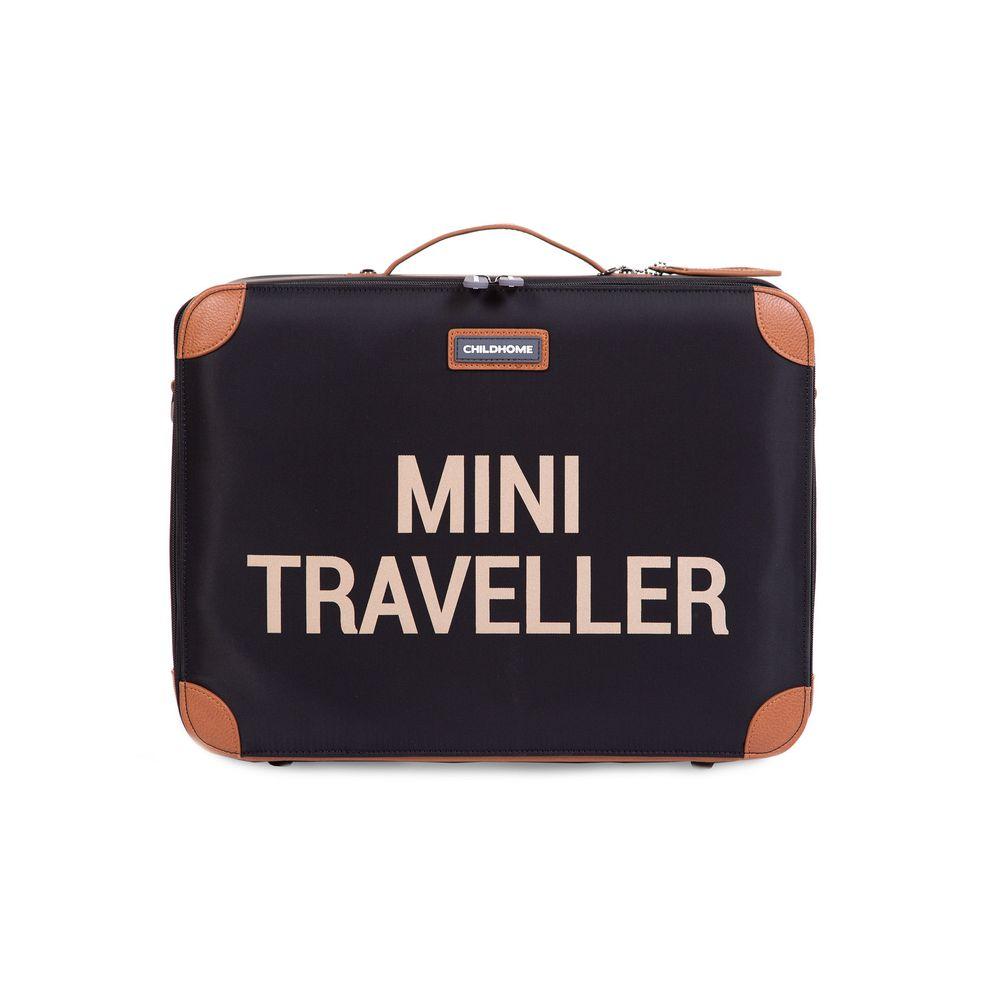 Childhome - Walizka dziecięca Mini Traveller Czarno-Złota   Esy Floresy