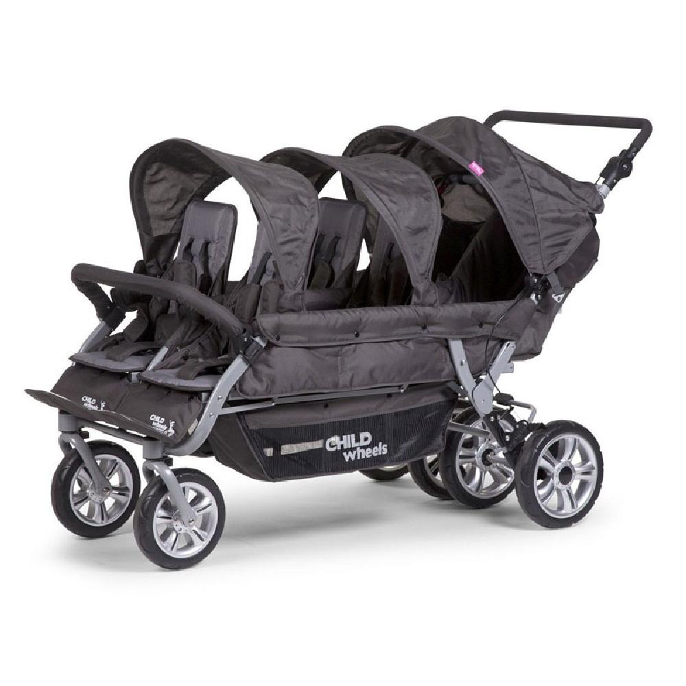Childhome - Wózek sześcioosobowy Sixseater 2 Autobrake | Esy Floresy