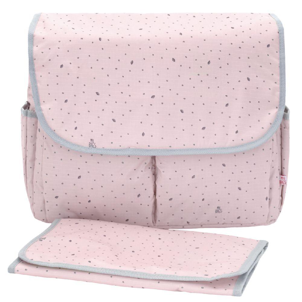 My Bag's - Torba do wózka Flap Bag Leaf Pink | Esy Floresy