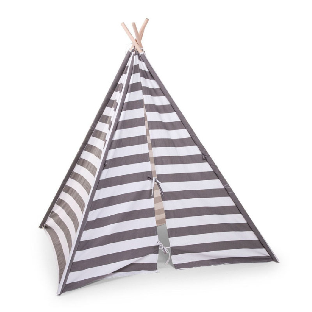 Childhome - Namiot Tipi Grey/White Stripes | Esy Floresy
