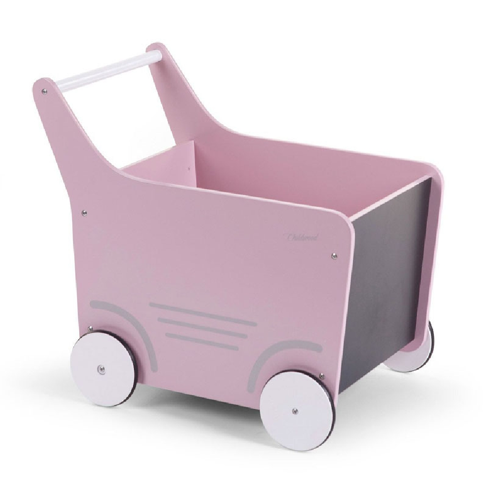 Childhome - Drewniany pchaczek na zabawki Soft Pink | Esy Floresy